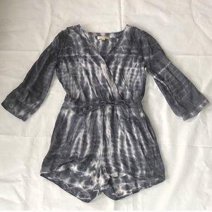 Cloth and Stone Tie Dye Surplice Shorts Romper New